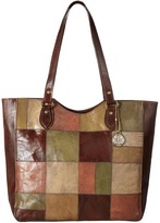 American West Groovy Soul Large Zip Top Tote Tote Handbags