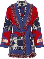 Alanui Fringed Jacquard-knit Cashmere Cardigan