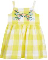 John Lewis Checked Dress, Yellow