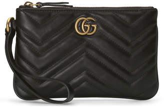 Gucci Leather Wrist Wallet in Black   FWRD