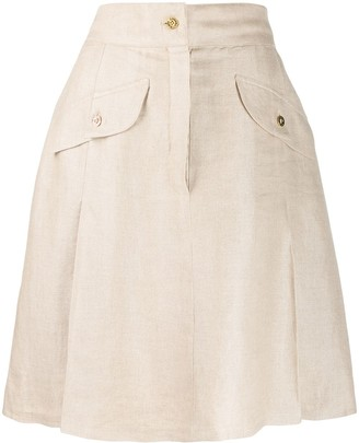 Chanel Pre Owned 1980's A-line skirt
