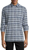 Vince Melrose Plaid Sport Shirt, Plum