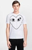 Comme des Garcons Men's Large Heart Graphic T-Shirt