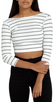 Missguided Women's Ribbed Cropped Tee