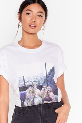 Nasty Gal Womens Sex and the City Graphic Tee - White