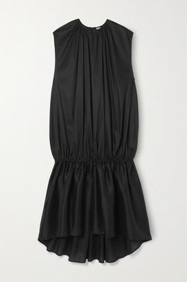 Totême Pretoria Gathered Lyocell And Cotton-blend Voile Maxi Dress - Black