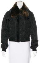 Prada Fur-Trimmed Bomber Jacket