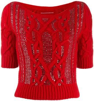 Ermanno Scervino knitted embellished jumper