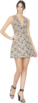 Alice + Olivia Black/Cream/Gold Patty Lantern Dress