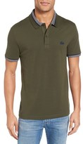 Lacoste Men's Semi-Fancy Slim Fit Stretch Pique Polo Shirt