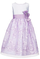 Jayne Copeland Little Girls 2T-6X Satin-To-Soutache Dress