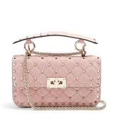 Valentino Rockstud Spike small quilted-suede shoulder bag