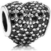 Pandora Silver & Black Pave Heart Charm - 791052NCK