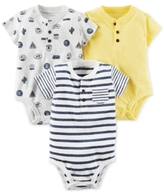 Carter's 3-Pk. Cotton Henley Bodysuits, Baby Boys (0-24 months)