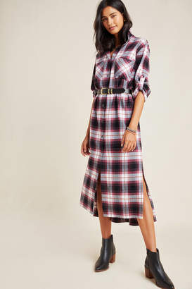 Cloth & Stone Plaid Maxi Shirtdress