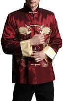 Interact China Stylish Kung Fu Men's Blazer Padded Jacket Dragon Shirt - 100% Silk M
