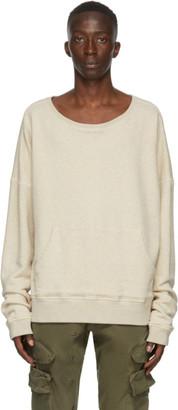 Greg Lauren Beige Long Sleeve Sweatshirt