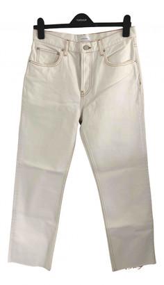 Anine Bing Spring Summer 2019 Ecru Cotton Jeans