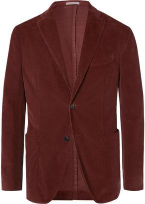 Boglioli Army-Green K-Jacket Slim-Fit Unstructured Cotton-Blend Corduroy Suit Jacket