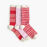 J.Crew Mixed holiday trouser sock 3-pack