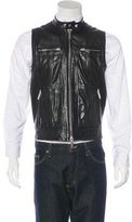DSQUARED2 Leather Paneled Vest