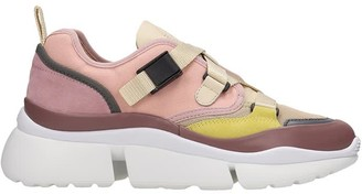 Chloé Sonnie Sneakers In Rose-pink Tech/synthetic