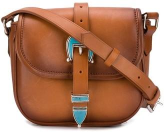 Golden Goose Buckled Leather Crossbody Bag
