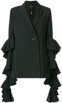 Ellery striped blazer - women - Silk/Polyester/Spandex/Elastane/Wool - 8