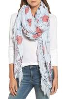 Treasure & Bond Crafted Floral Fringe Scarf