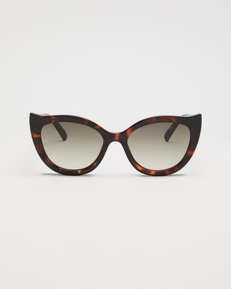 Le Specs Women's Brown Cat Eye - Flossy - Size One Size at The Iconic