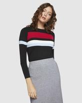 Oxford Dotty Colour Block Knit
