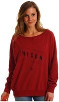 Nixon Series Pullover Crew (Dark Red Heather) - Apparel