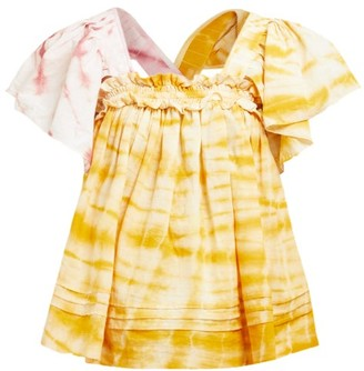 story. Mfg - Aida Tie-dye Organic-cotton Top - Womens - Yellow