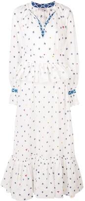 Natasha Zinko embroidered belted maxi dress