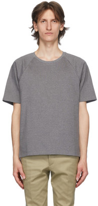 Thom Browne Grey Interlocking Stripe T-Shirt