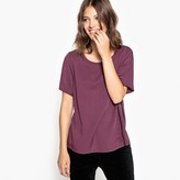 Vila Crew-Neck Plain Blouse with Short Sleeves