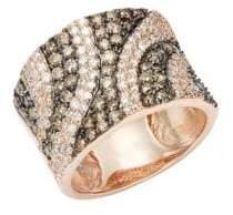 Effy 14K Rose Gold, White & Black Diamond Ring