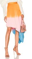 J.W.Anderson Asymmetric Degrade Skirt in Blue,Pink,Ombre & Tie Dye,Orange.