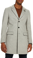 Scotch & Soda Epsom Long Classic Coat, Light Grey Melange