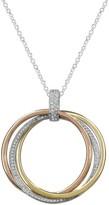 Effy Jewelry Moderna Trio Diamond Circles Pendant, 0.30 TCW