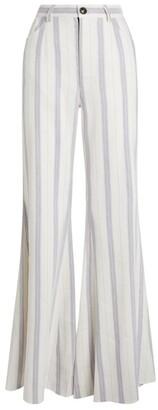 Natasha Zinko Stripe Flared Trousers