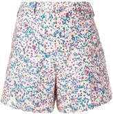 No.21 floral-print flared shorts