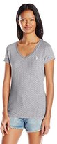 U.S. Polo Assn. Junior's Polka Dot Lace Trim V-Neck T-Shirt