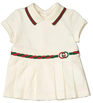 Gucci Kids Stretch Cotton Pique Dress (Infant) (Ivory/Multicolor) Girl's Clothing