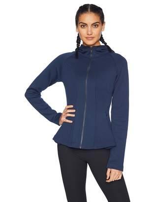 Core 10 Amazon Brand Women's Motion Tech Fleece Fitted Peplum Full-Zip Hoodie Jacket