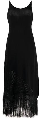 Pinko knitted detail midi dress