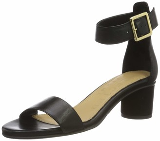 Selected Women's Slfmerle Leather Round Heel Sandal B Ankle Strap