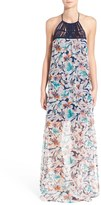Ella Moss Tahiti Silk Halter Maxi Dress