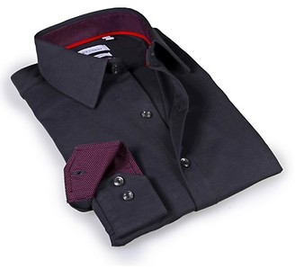 Levinas Tailored-Fit Point-Collar Dress Shirt