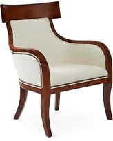 Massoud Furniture Sylvia Chair - White Linen